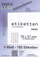 Etiketten Wasserfest Wetterfest Hitzebeständig Weiß / Transparent Selbstklebend