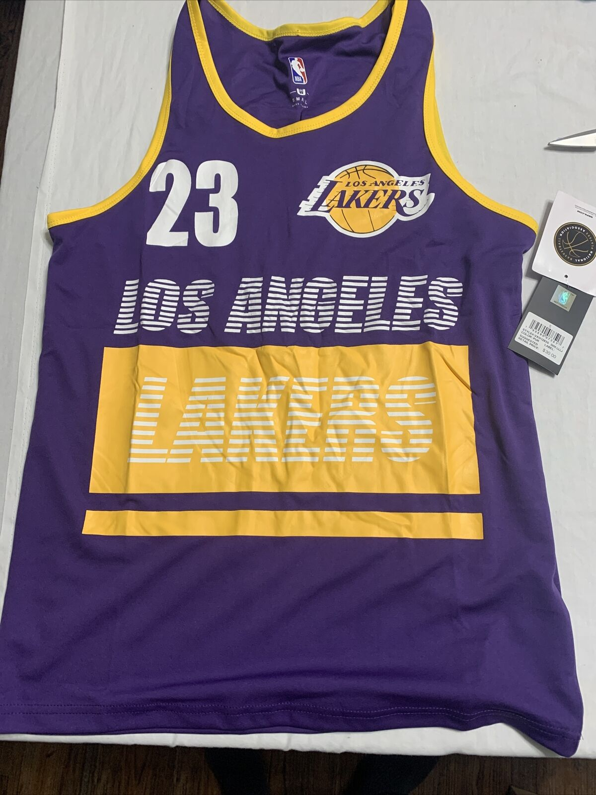 NBA Los Angeles Lakers #23 Lebron James Tank Shirt Youth Boys ...