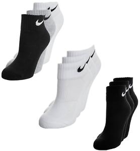 acheter populaire 3f3fa 576fc Détails sur Nike Chaussettes 3 Pack Homme Femme Sport Fitness Tennis  Socquettes Quarter