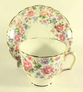 Vintage-Fine-Bone-China-Crown-Staffordshire-Cup-and-Saucer-England