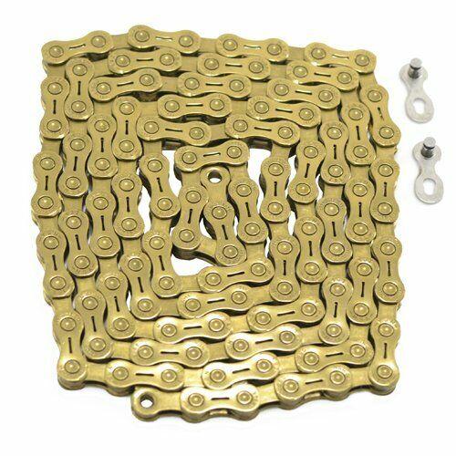 Spedizione rapida YBN 11 velocità Hollow Pin catena 120 Collegamento per Shimano Sram Campy, oro