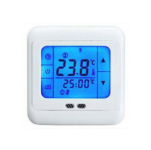24v touchscreen raumthermostat digital bodenf hler. Black Bedroom Furniture Sets. Home Design Ideas