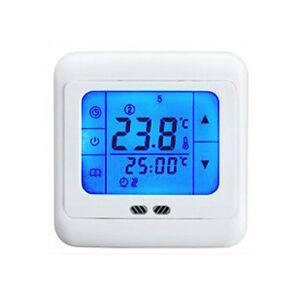 24v touchscreen raumthermostat digital bodenf hler thermostat fu bodenheizung ebay. Black Bedroom Furniture Sets. Home Design Ideas