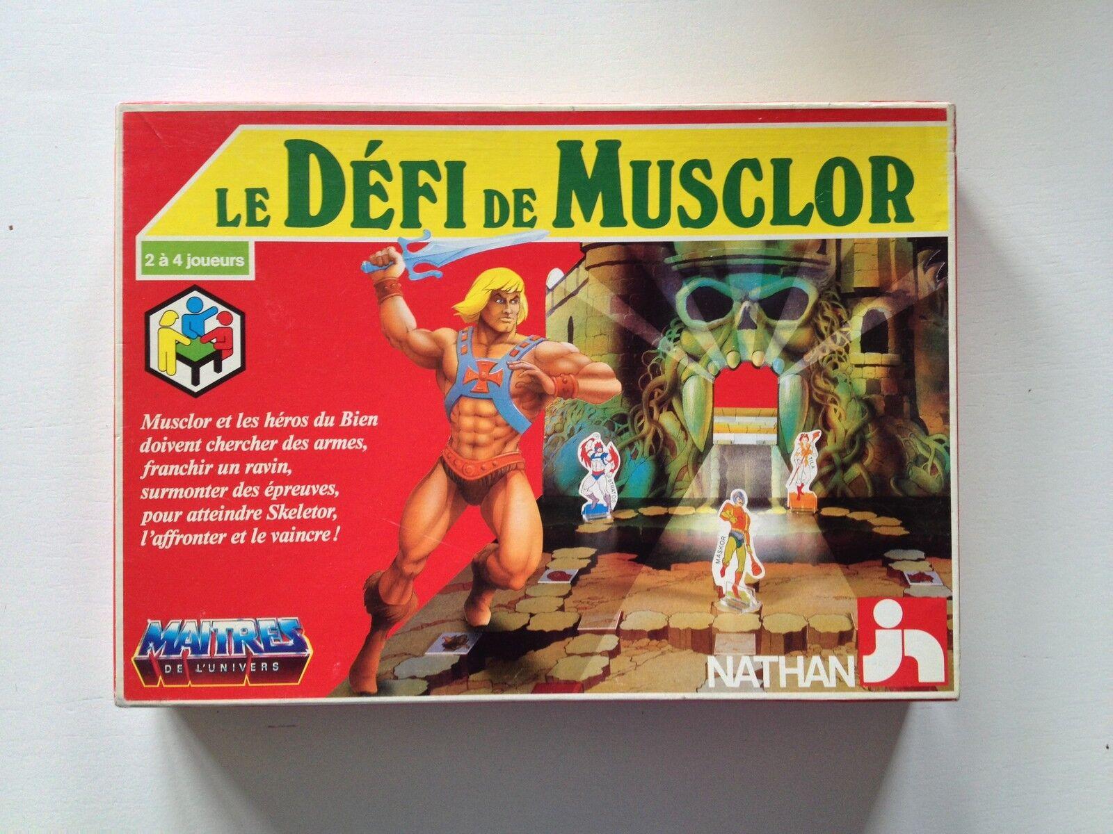 Le défi de Musclor   maitres de l'univers   Masters of the Universe NATHAN 1984