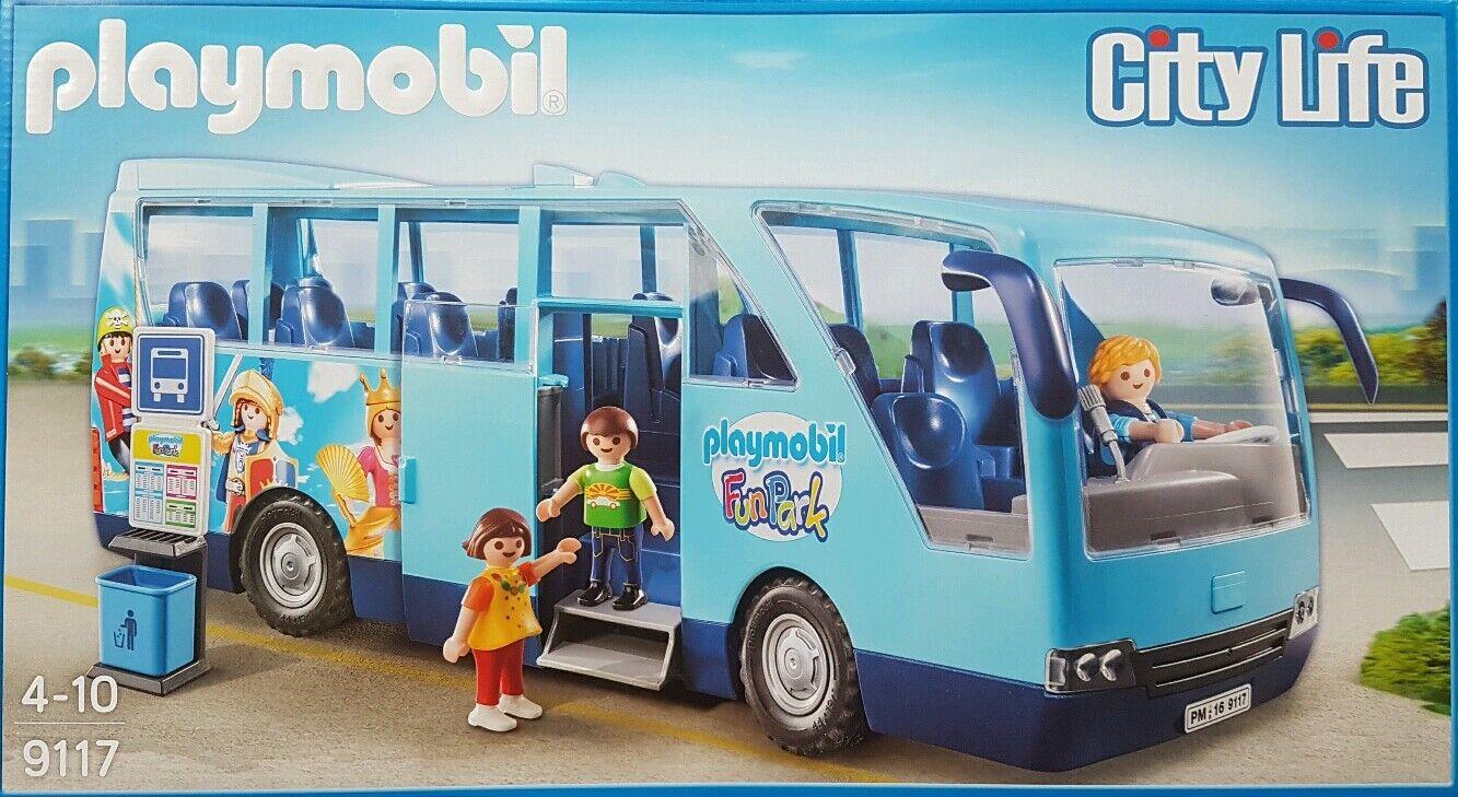 PLAYMOBIL 9117 City Life scuolabus FUN PARK EDIZIONE SPECIALE RARO RC-capace Nuovo/Scatola Originale