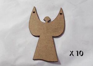 10 Pack de qualité mdf 8 cm Arbre de Noël décorations clasic Angel # 021-afficher le titre d`origine eWRdzLuT-07205726-423563530