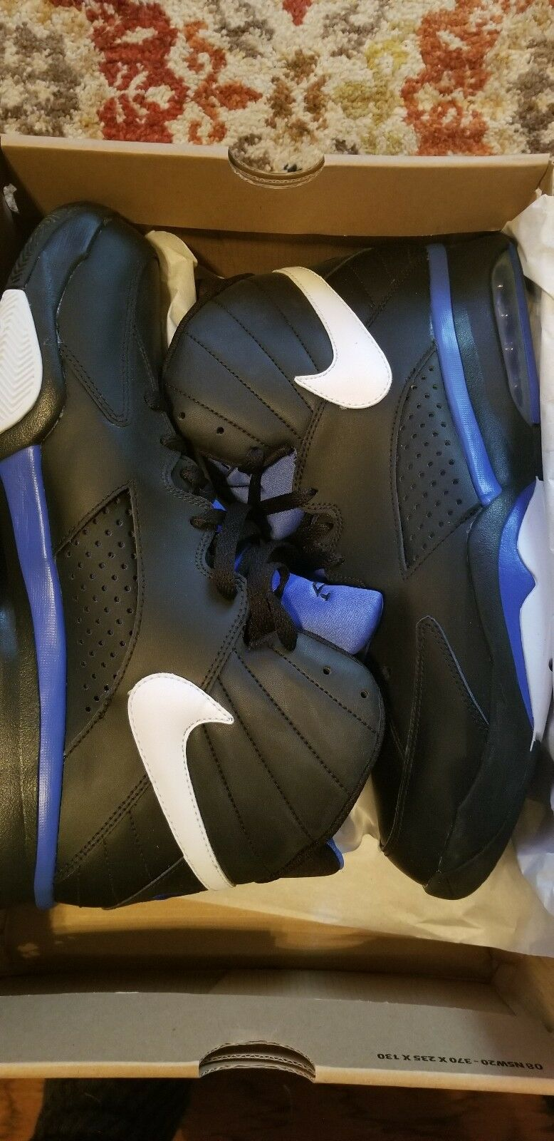 Nike air max maestro volo pippen nero / blu ritmo 472499-040 sz 12