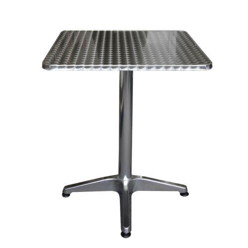 Gartenmöbel Set Bistrogarnitur Sitzgruppe Aluminium 60x60cm 4x Alu Bistrostuhl