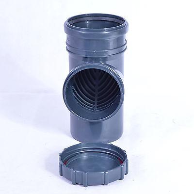 Fallrohrfilter Regenrohrfilter Dachrinne Laubfang 110/100 Farbe Graphite Angemessener Preis Baustoffe & Holz