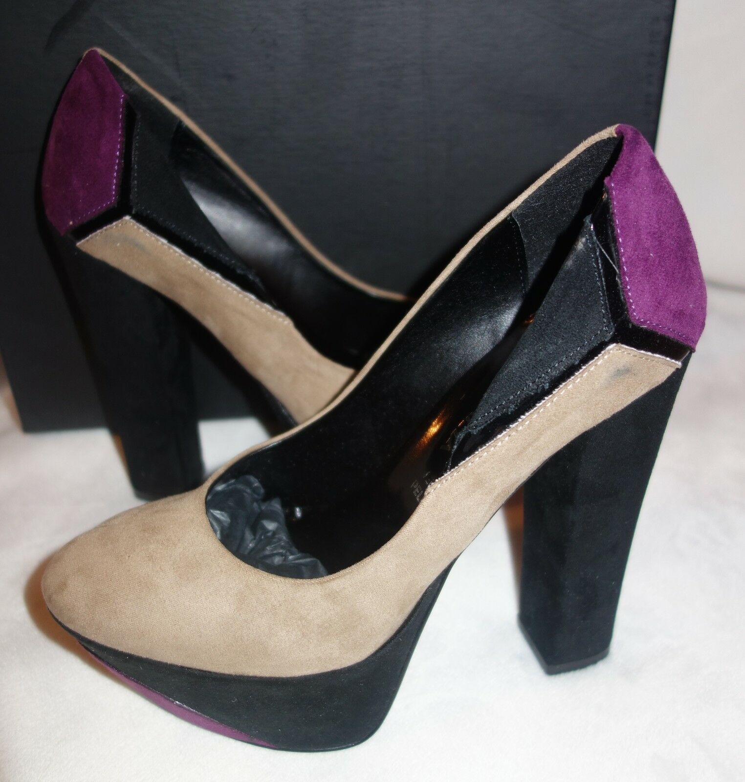Made in Italia Platform Pumps multi color Suede  Size 39 us 8.5 new