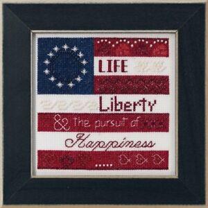 Mill-Hill-Patriotic-Quartet-Life-Liberty-Cross-Stitch-Kit-MH17-1914