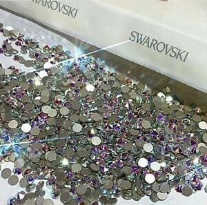 Swarovski-Crystals-AB-flat-back-for-nails-lashes-body-design-30-pieces-NEW