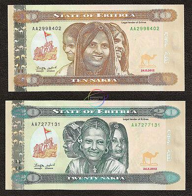 ERITREA   10   NAKFA  2012  P 11  Prefix AA Uncirculated Banknotes
