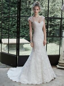 Details about Maggie Sottero, new white lace