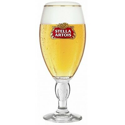Stella Artois Chalice Official CE Stamped Stemmed Half Pint Glasses Brand New
