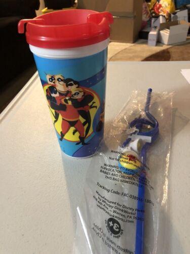 Disney Parks Pixar Fest Incredibles Wall-E Coco Coffee Travel Mug /& Luxo Straw