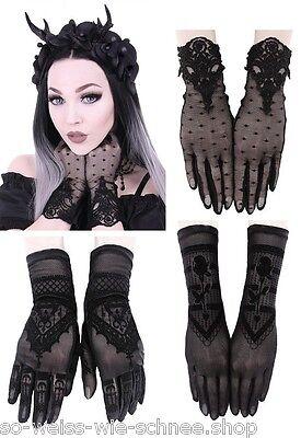 Restyle Gothic Spitze Handschuhe Guipure