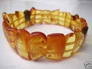 Cognac Honig Bernstein Vintage Armband Naturbernstein Genuine Amber Bracelet Unterscheidungskraft FüR Seine Traditionellen Eigenschaften