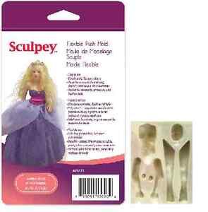 Sculpey-Flexible-Push-Mold-WOMAN-or-MERMAID-DOLL-Polymer-Clay