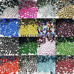 HOTFIX-IRON-ON-GLASS-RHINESTONES-ROUND-GEMS-H-QUALITY-DECORATION-CRAFT-BEADS