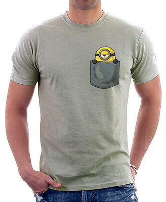 MINION in my pocket cute parody funny zinc cotton t-shirt 9808
