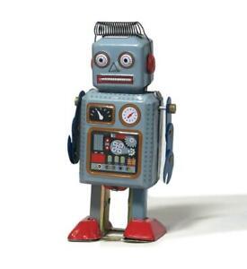 Tinplate-mainspring-robot-Rare-Retro-Limited-Tin-toy-vintage