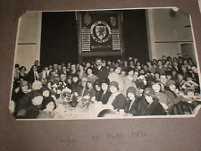2 old photographs people at Bangor Eisteddfod Wales 1930