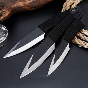 3pcs-Tactical-Pocket-Fixed-Straight-Blade-Knife-Hunting-Camping-Sheath-Survival