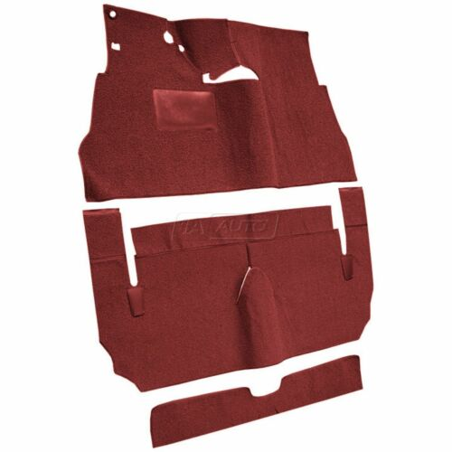 for 1955-56 Cadillac Deville 2 Door Cut /& Sewn 80//20 Loop 02-Red Complete Carpet