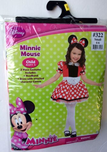 Disney Minnie Mouse Halloween 2 Piece Costume SIze Small 4-6