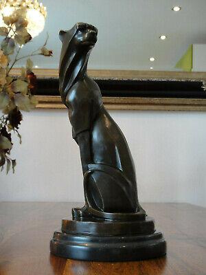Panther Raubkatze Jaguar Bronze Skulptur Figur Marmor