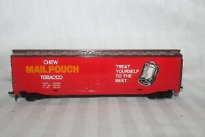 Vintage-Tyco-374-A-HO-Scale-50-039-Plug-Door-Box-Car-034-Mail-Pouch-Tobacco-034-Hong-Kong