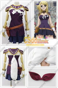 Fairy Tail Lucy Heartfilia Cosplay Costume Purple Version Ebay
