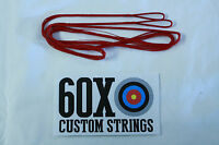 Red 50 12 Strand Dacron B50 Longbow Bowstrings By 60x Custom Strings Bow