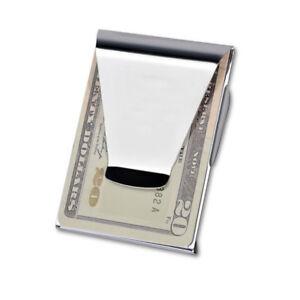 doppia-clip-Portafoglio-carte-di-porta-credito-e-banconote-money-clip-zi