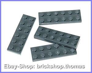 Lego-4-x-Platte-2-x-6-grau-3795-Plate-Dark-Bluish-Gray-NEU-NEW