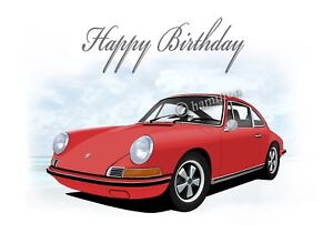 Details about Porsche 911 912 18th 21st 40th 50th 60th 70th PERSONALISED  Car Birthday Card