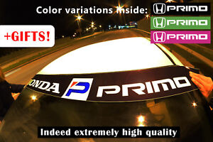 HONDA PRIMO DECAL WINDSHIELD BANNER