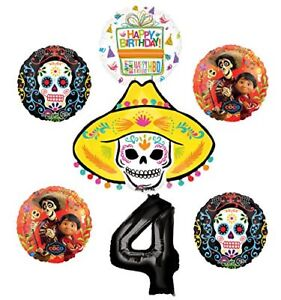 Image Is Loading Coco Party Supplies 4th Birthday Balloon Bouquet Decorations