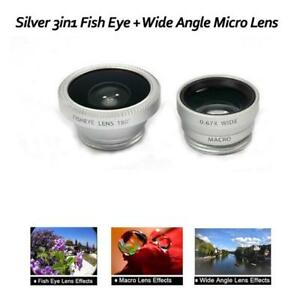 176f5995152573 3 in 1 CAMERA LENS KIT WIDE ANGLE MICRO FISH EYE LENS for iPHONE 4 5 ...