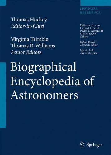 Biographical Encyclopedia of Astronomers Hardcover Thomas Hockey
