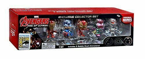 SDCC 2015 Marvel Avengers Age of Ultron Exclusive Collector Set Bobble Head Mini