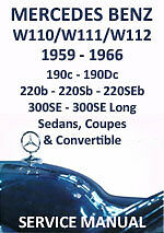 mercedes benz workshop manual w110 w111 w112 1959 1966 ebay rh ebay co uk Mercedes-Benz W108 Mercedes-Benz W108