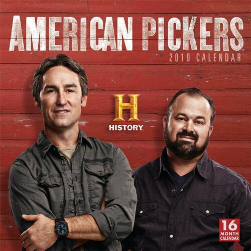 30cm x 30cm FREE UK POSTAGE AMERICAN PICKERS 2019 CALENDAR OFFICIAL WALL