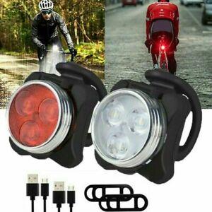 LED Fahrradlicht Set USB Wiederaufladbare Fahrradlicht Hinten Lampe Wasserdicht