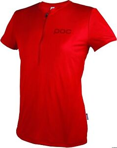 POC-Trail-Light-Zip-Tee-Pewter-Red-XL