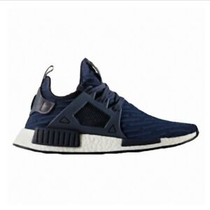 7e8e117f8 Image is loading Adidas-NMD-R1-BA7215-Navy-White-US-4-
