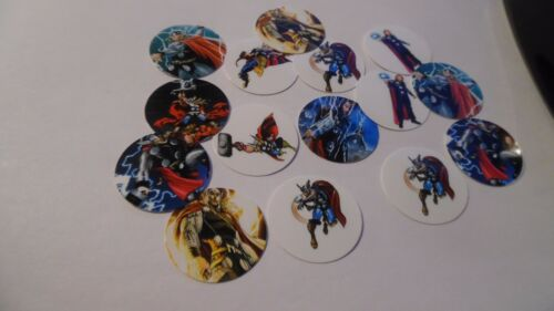 Pre Cut One Inch Bottle Cap Images THOR SUPER HERO Free Shipping