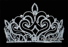 Vintage Style Pageant Tall 4.75 Tiara Full Circle Round Swarovski Crystal Crown