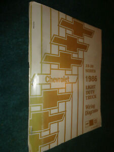 1986 CHEVROLET TRUCK 10-35 SHOP MANUAL WIRING DIAGRAMS ...